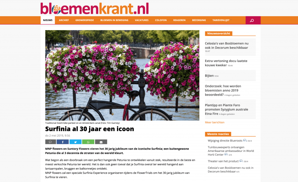Bloemenkrant.nl | Surfinia® | Article
